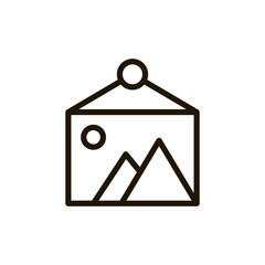 Line flat icon