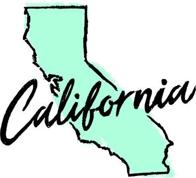 Hand Drawn California State Design