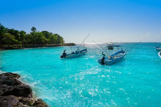 Akumal bay beach in Riviera Maya