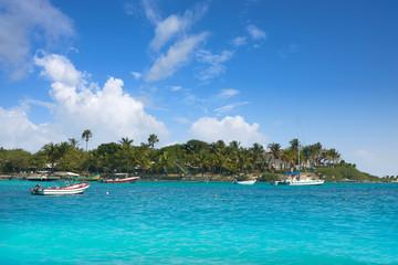 Fototapete - Akumal Caribbean beach in Riviera Maya