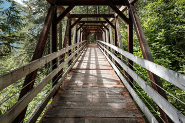 A wooden bridge awaits the intrepid hiker