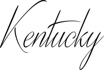 Kentucky text sign illustration