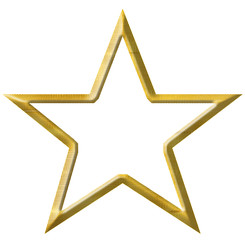 étoile d'or, fond blanc