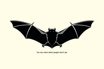 Hand drawn bat sketch, vector illustration
