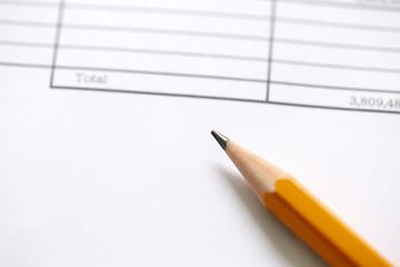 鉛筆 見積もり 請求書 bill