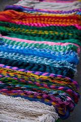 Chichen itza colorful hammocks in Mexico