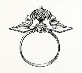 Ornamental bracelet, India (from Meyers Lexikon, 1896, 13/338/339)
