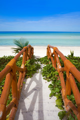 Holbox tropical Island in Quintana Roo Mexico