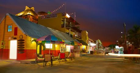Holbox Island Caribbean houses sunset Mexico