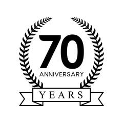 70th anniversary years