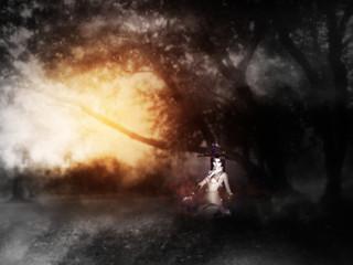Dark Mist and Trees