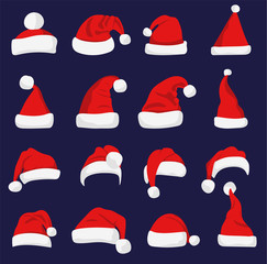 Santa Claus red hat silhouette.