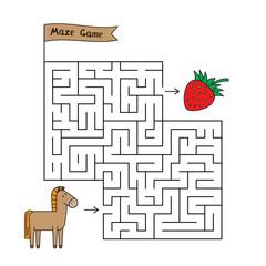 Cartoon Horse Maze Game