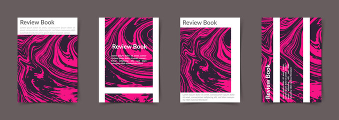 Pink abstract nature marble minimalistic texture book cover template