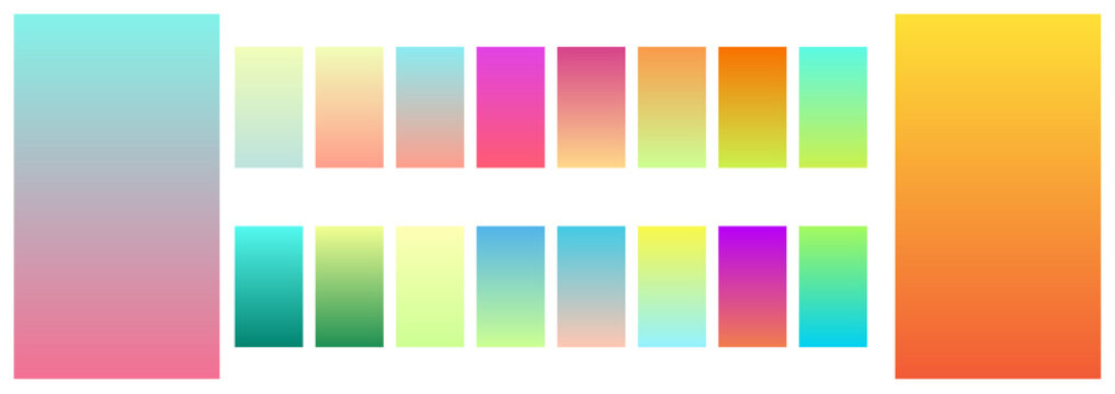 Soft color mobile screen app gradient background template