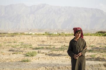 An Afghan Refugee shepherd Boy