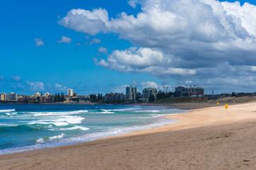 Beach landscape on sunny day