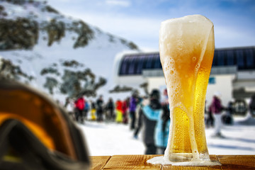 cold beer and winter time