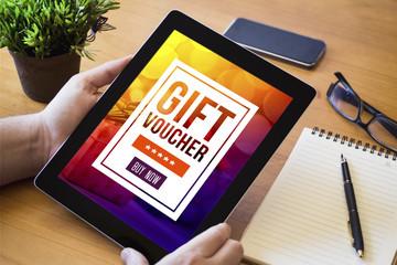 desktop tablet gift voucher