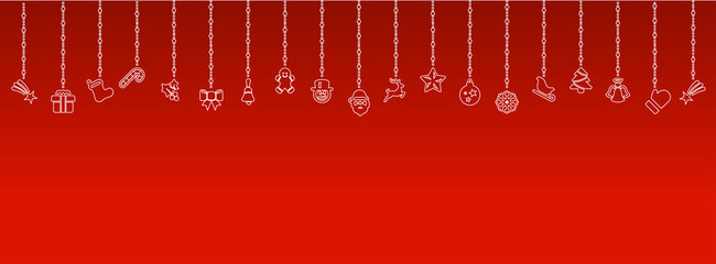 Wall Mural - Weihnachten Elemente Icons Dekoration
