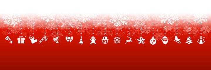 Wall Mural - Rote Weihnachten Elemente