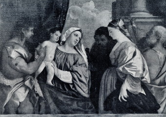 The Virgin and Child with Four Saints (Titian, ca. 1516)