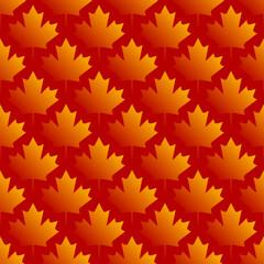 autumn maple leaves symmetrical seamless pattern