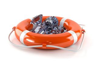 Life buoy with diamonds