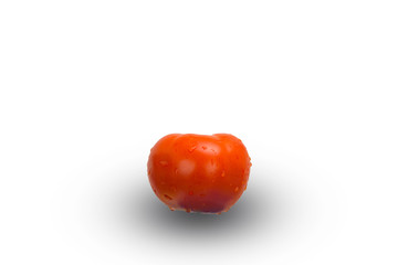 tomato on isolated white background composition photography