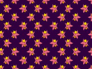 Seamless pattern with stars in the stars. Cartoon style. Vector illustration
