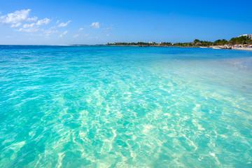 Printed roller blinds Caribbean Mahahual Caribbean beach in Costa Maya