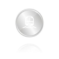 Zug - Silber Münze mit Reflektion