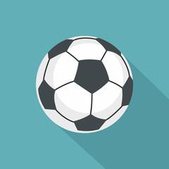 Football icon, flat style