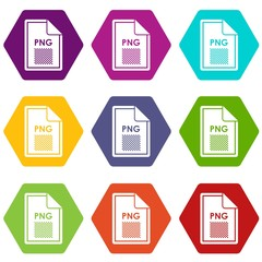 File PNG icon set color hexahedron