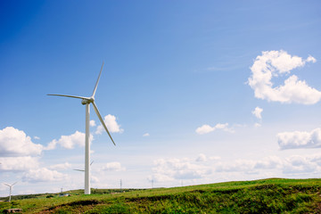 Wind turbines in the prairie