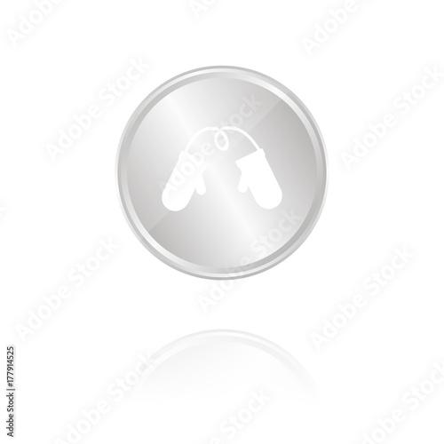 Handschuhe Fausthandschuhe Silber Münze Mit Reflektion
