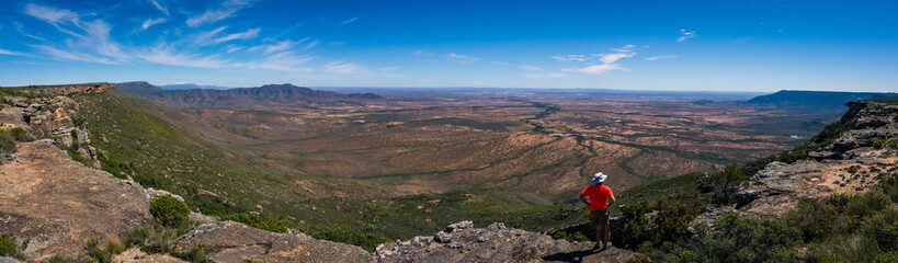 Stunning view over the escarpment near Nieuwoudtville, South Africa, while hiking Wall mural