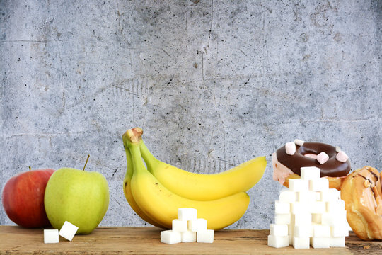 Choose healthy fruits instead of unhealthy sweets with huge quantity of sugar