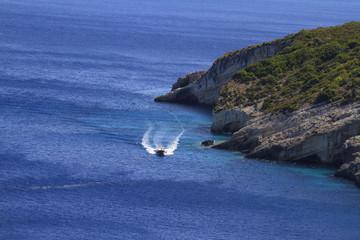 Yacht near Zakynthos island, Greece