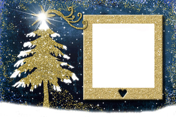 Photo frame Christmas cards