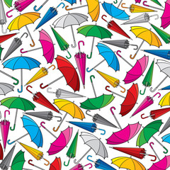 background pattern with umbrella