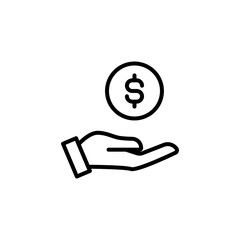 Modern earning line icon.