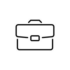 Premium briefcase icon or logo in line style.