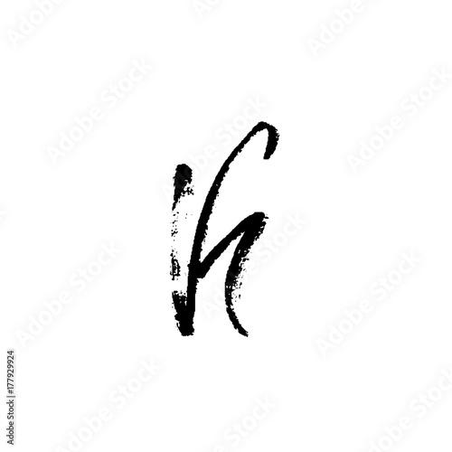 Hand painted letter K  Dry brush modern lettering  Vector