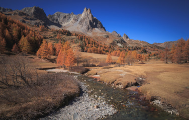 Fotomurales - Vallee de la Claree during a clear day in autumn.
