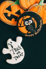 Halloween Cookies on Dark Backround