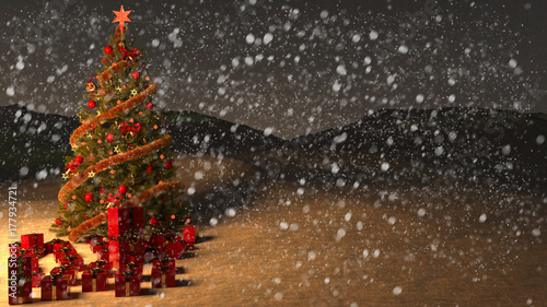 Albero Di Natale Con Neve Stock Photo And Royalty Free Images On