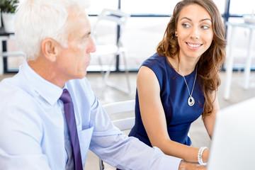 Business people having meeting