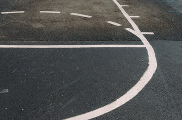lines on a basketball court