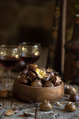 Roasted Chestnuts with Port Wine